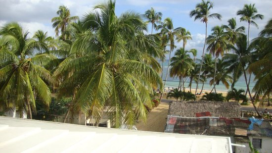 Coco Plaza Hotel:                   View from balcony of my room (Penthouse on fourth floor)