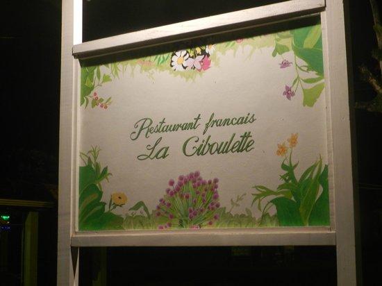 La Ciboulette sign on the street