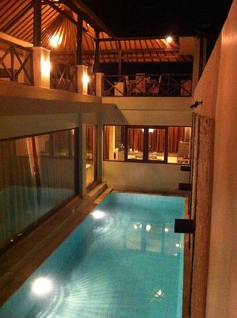 Nusa Dua Retreat and Spa:                   upstairs and downstairs view of pool