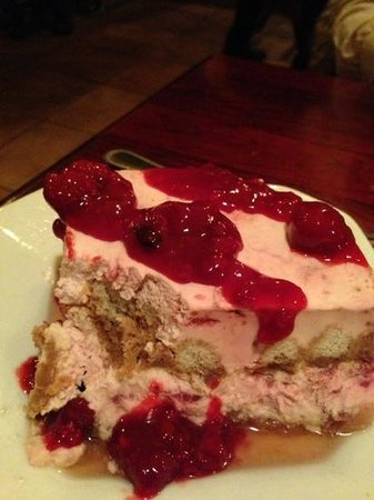 Victoria's Restaurant and Wine Bar:                   Raspberry Tiramisu minus a bite
