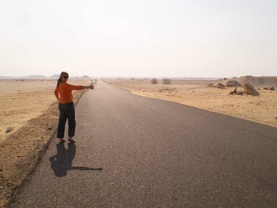 White Desert:                   Hitch hiking the Desert LOL