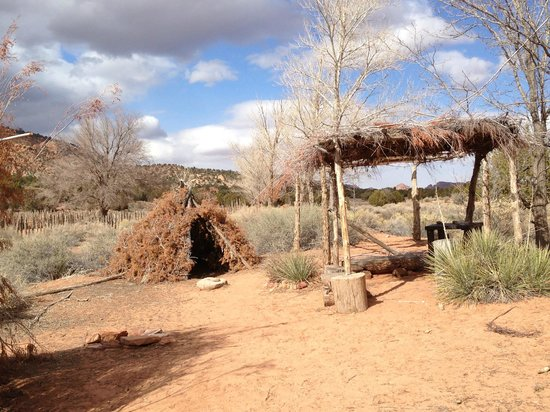 Pipe Spring National Monument:                   Example of Kaibab Paiute dwellings