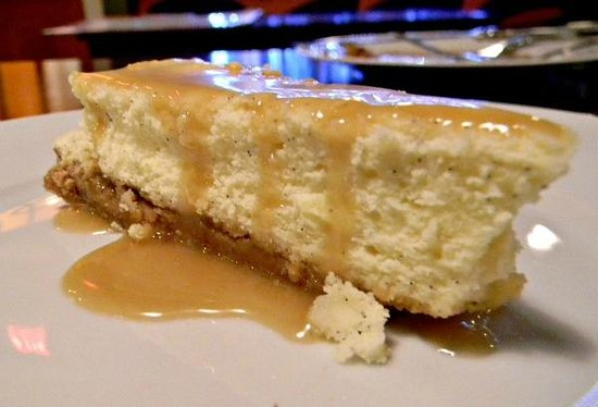 Il Gallo Giallo:                   Ricotta Cheesecake with Maple Syrup