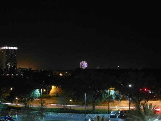 Holiday Inn Orlando – Disney Springs Area :                   Magic Kingdom fireworks from our 6th floor room