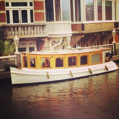 De L'Europe Amsterdam:                   boat tour offered by the hotel