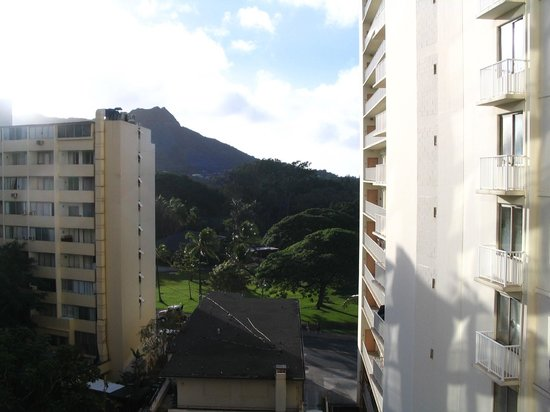 Aston Waikiki Beach Hotel:                   Diamondhead from our room on the hotel's south side