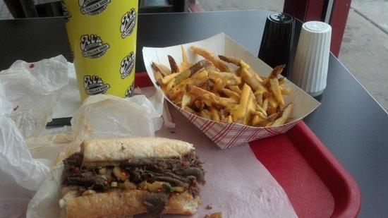 Al's #1 Italian Beef :                   Famous Italian beef sandwich and cheese fries