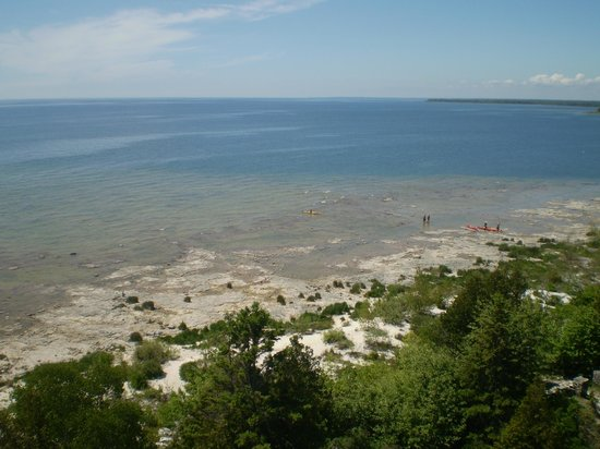 Cana Island Lighthouse:                   View from the top of the lighthouse