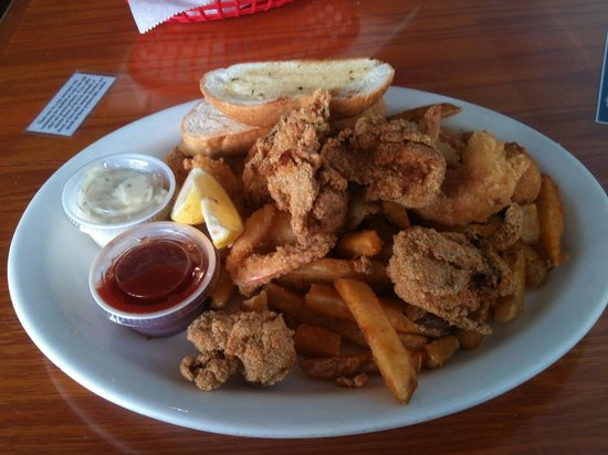 CR Surf and Turf:                   Fried Shrimp and Oysters