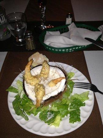 Los Barriles Restaurant & Bar:                   Thai coconut shrimps