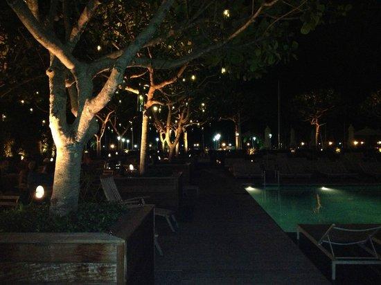 The Modern Honolulu:                   By the poolside restaurant