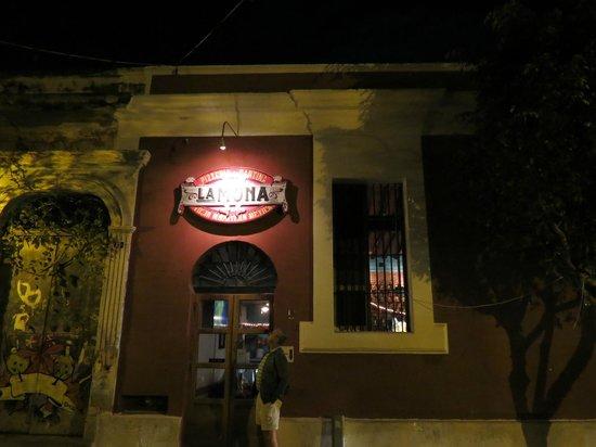 La Mona Centro:                   Sign on the building