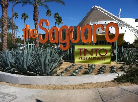 The Saguaro Palm Springs:                                     The lovely front of the Saguaro hotel..
