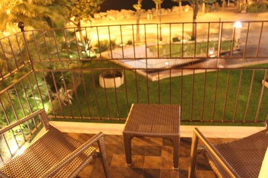 Park Hotel:                   Balcony at night