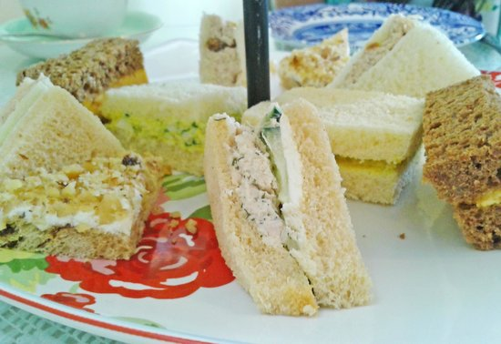 McKenna's Tea Cottage:                   Petite sandwich offerings