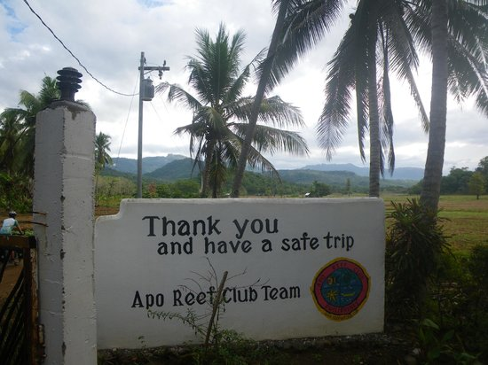 Apo Reef Club:                   sign at exit