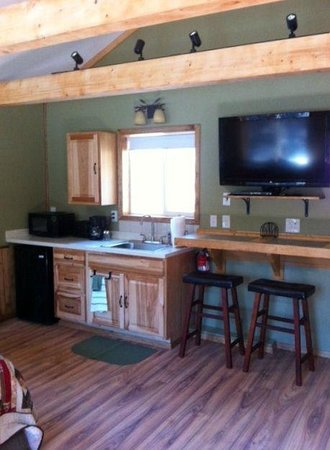 Talkeetna Chalet Bed & Breakfast: Cabin kitchenette
