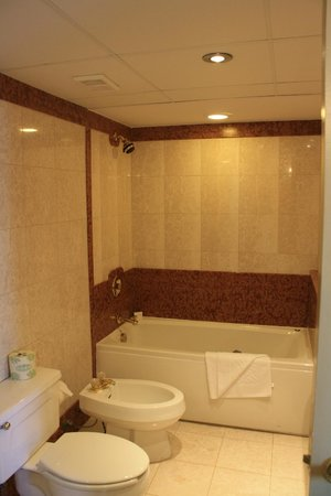 Doubletree by Hilton Grand Hotel Biscayne Bay:                   Tub, stool, bidet area