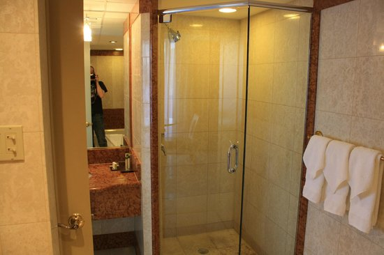 Doubletree by Hilton Grand Hotel Biscayne Bay:                   Shower and one sink of two