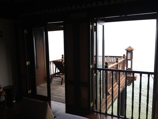Pangkor Laut Resort:                                     view from bedroom out to terrace & horizon...