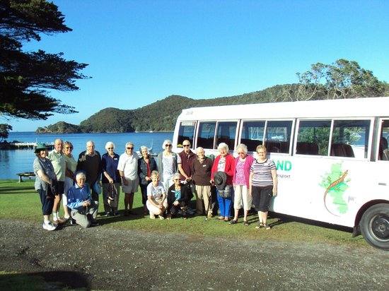 Go Great Barrier Island - Day Tours: Leisuretime Tour Group ready to hit the road and discover more of the Beautiful Barrier!