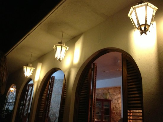 Casa de los Arcos:                                     Terrace Doors at NIght