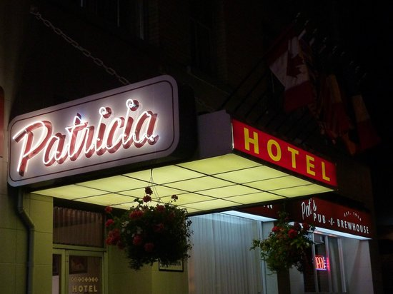 Patricia Hotel:                   The Patricia at night.