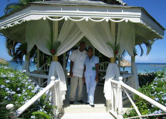 Sunscape Splash Montego Bay:                   Gazebo on beach and I had a 1hr massage in here