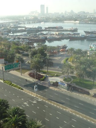 Hilton Dubai Creek:                   View from the room