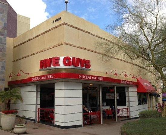 restaurant review reviews five guys redding california