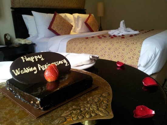 The Phoenix Hotel Yogyakarta - MGallery Collection:                   A lovely surprised when we checked in and our room was decorated.