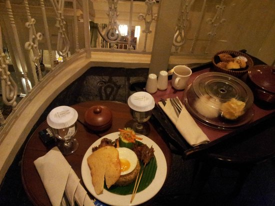 The Phoenix Hotel Yogyakarta - MGallery Collection:                   We had dinner at our balcony. It was so quiet and peaceful