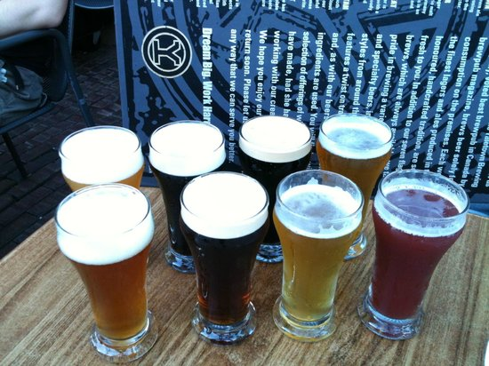 Yaletown Brewing Company:                   Sampling the beer!