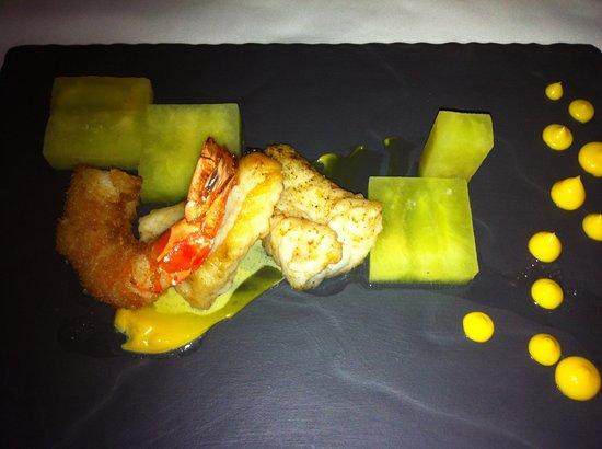 The Restaurant at Waterkloof:                   Fisch mit kaltem grünen Apfel