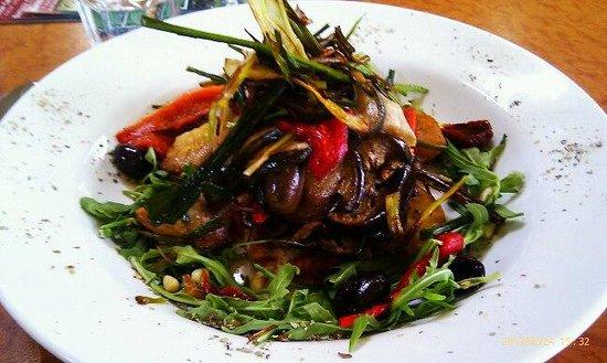 Cafe Y:                   vegetarian meal