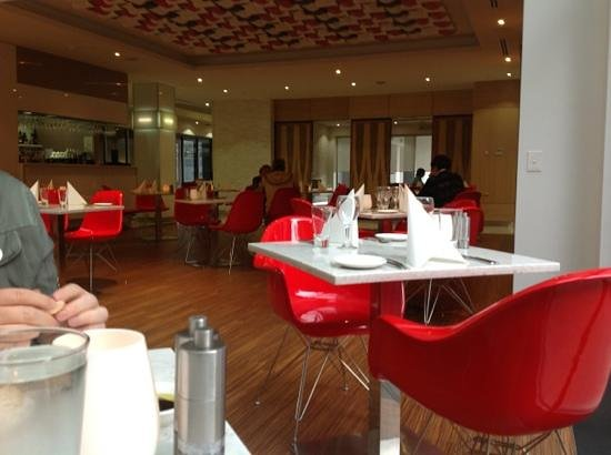 Restaurant Esca :                   lovely and comfortable AND.  the wifi works.