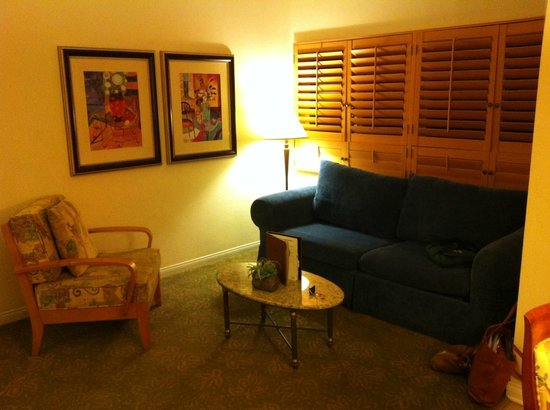 Welk Resort San Diego:                   Living room of a one bedroom unit.