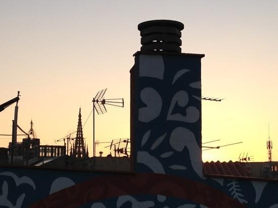 Hotel Ciutat de Barcelona:                   cattedrale dal terrazzo