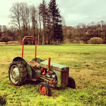 Riverdale Hall Country House Hotel:                                     Old tractor on cricket field