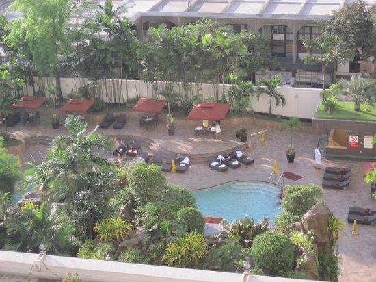 Diamond Hotel Philippines:                                     The swimming pool