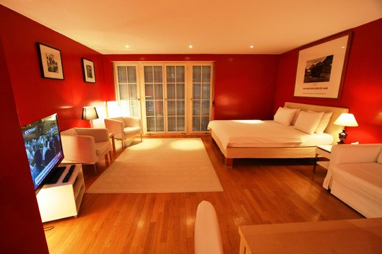 Palais Kraft :                                     Our very quiet spacious Wilson Room with terrace