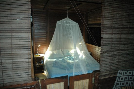 Serenity Beaches Resort:                   Bedroom at night