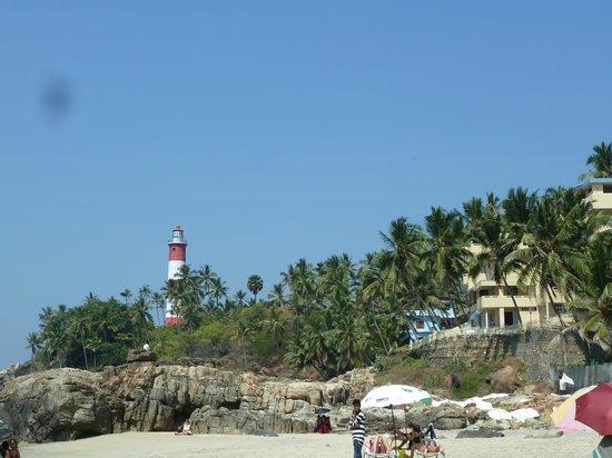 Hotel Sea View Palace:                   Strand / Aussicht auf den Leuchtturm
