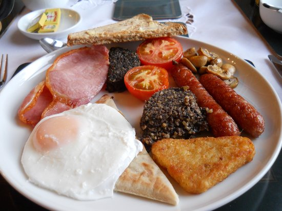 Brighton House:                                     Full Scottish Breakfast