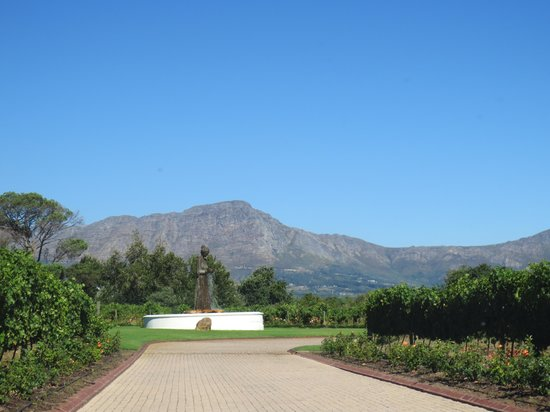 Franschhoek, Sydafrika:                   View from La Motte