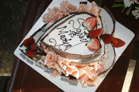 Sarova Whitesands Beach Resort & Spa:                                     Our Valentine 3 tier yummy cake