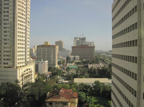 Diamond Hotel Philippines :                                     outside view