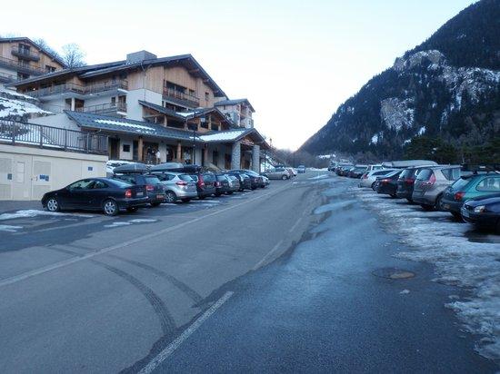 Hameau des Eaux d'Orelle:                   Main outside parking area
