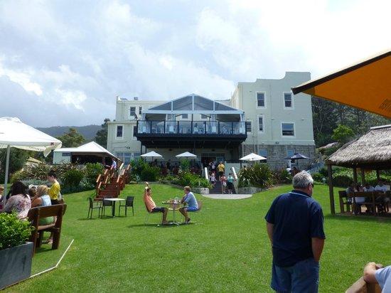 Scarborough Hotel:                                     Grassed area