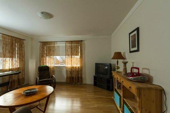 Teigur Guesthouse: Living room